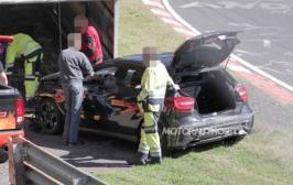 Прототип Mercedes-Benz A-Class разбился во время тестов на Нюрбургринге